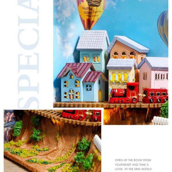 H9ebd6c4cbfa84bfda4488987fad68ceah 600x600Hot Air Baloon Mini Book DIY Dollhouse