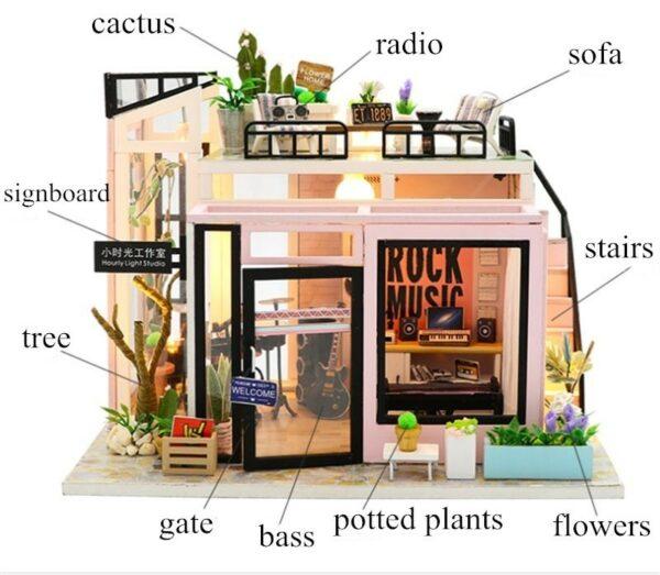 H9f698c2c0af848b1bc8c84b1f584421clTime Studio DIY Dollhouse