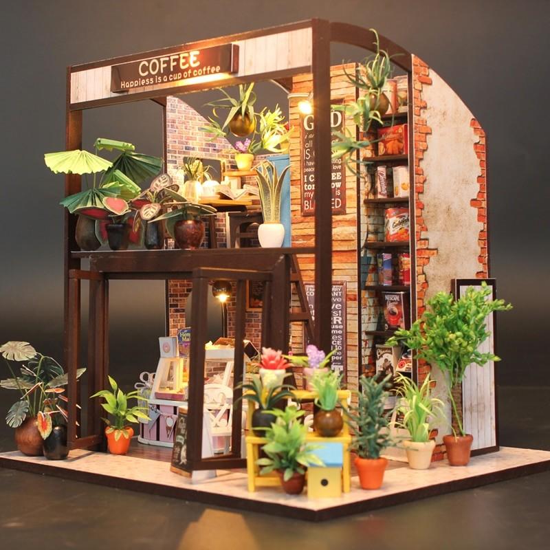 HTB134 PSpXXXXc2XXXXq6xXFXXX5Happiness is a cup of coffee DIY Dollhouse