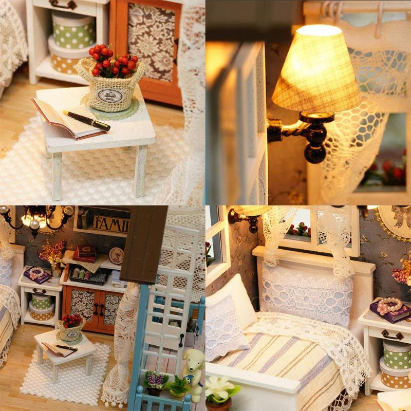 HTB137WtzsuYBuNkSmRyq6AA3pXaDMori Blue Time DIY Dollhouse