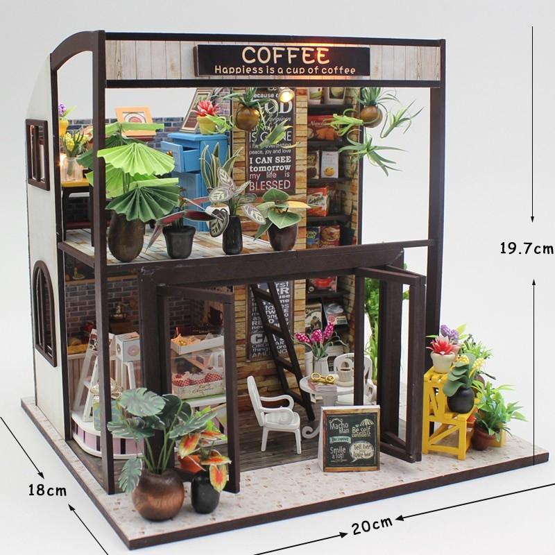 HTB13KQtSpXXXXanXpXXq6xXFXXXFHappiness is a cup of coffee DIY Dollhouse