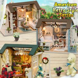 American Retro Style Dollhouses