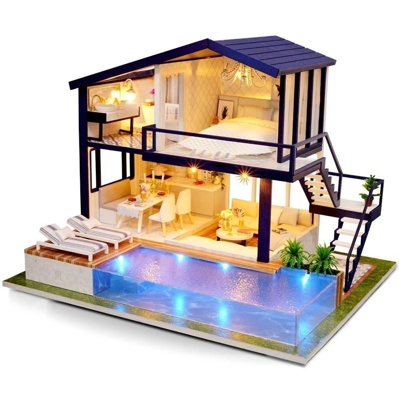HTB1Aua9ajnuK1RkSmFPq6AuzFXa0Time Apartment DIY Dollhouse Kit