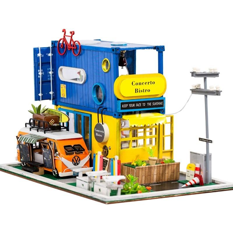 HTB1BBlccG5s3KVjSZFNq6AD3FXakHello Summer DIY Miniature Dollhouse Kit