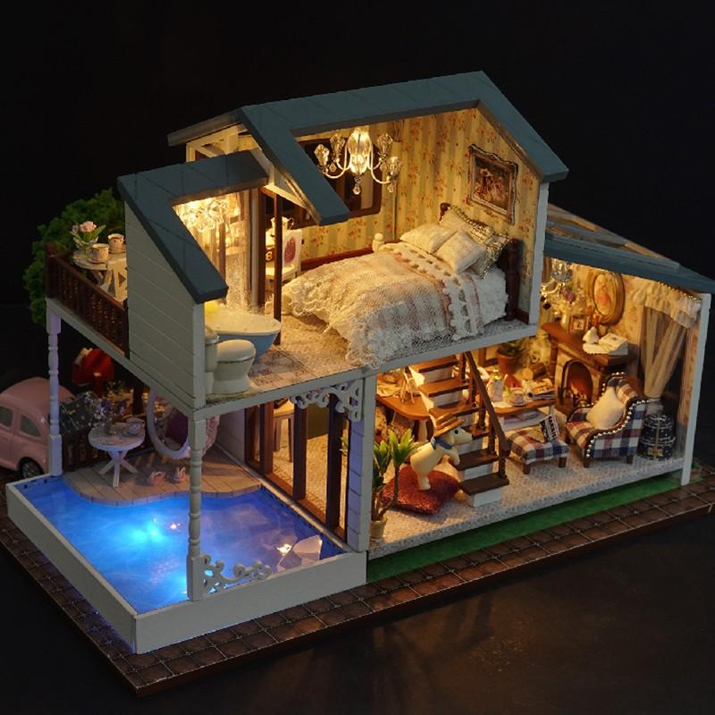HTB1BbV9cCCWBuNjy0Fhq6z6EVXa7London Holiday DIY Miniature Dollhouse