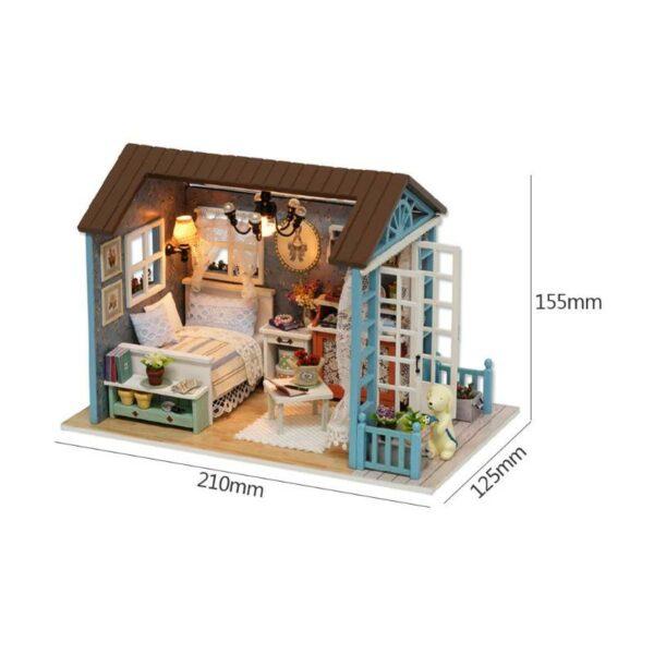 HTB1GNQ.azfguuRjSszcq6zb7FXadMori Blue Time DIY Dollhouse