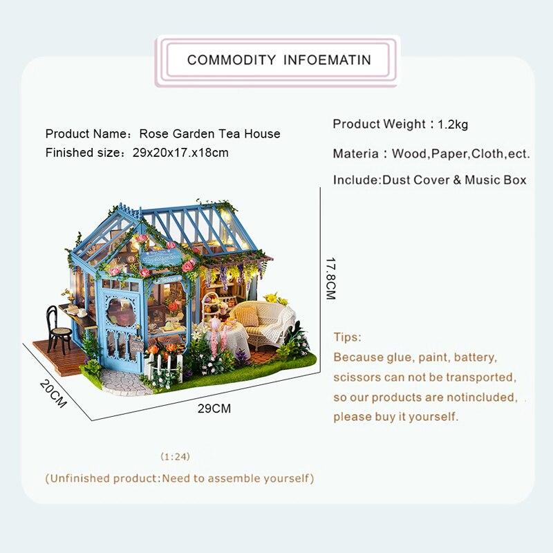 HTB1ISO7XBWD3KVjSZKPq6yp7FXaMRose Garden Tea House DIY Dollhouse