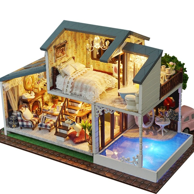 HTB1JVAtmH1YBuNjSszeq6yblFXaCLondon Holiday DIY Miniature Dollhouse