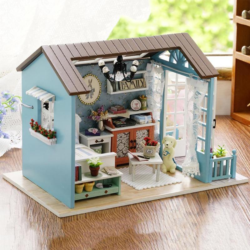 HTB1KYjhA5OYBuNjSsD4q6zSkFXaMMori Blue Time DIY Dollhouse