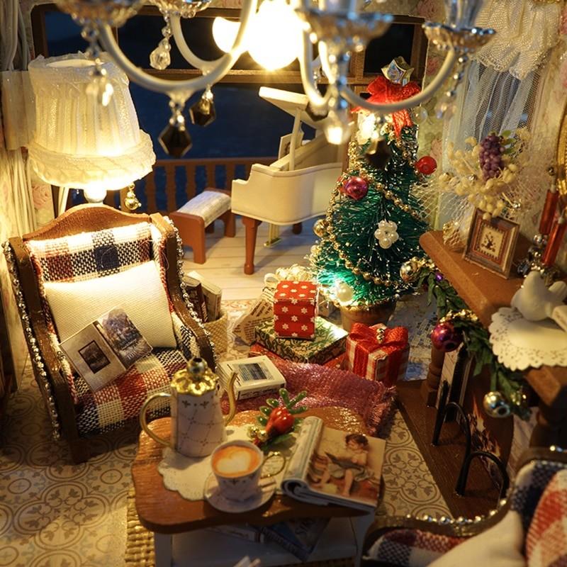 HTB1PxwdcDtYBeNjy1Xdq6xXyVXa6London Holiday DIY Miniature Dollhouse
