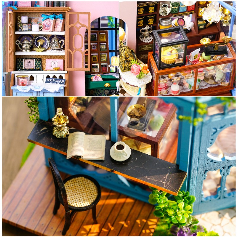 HTB1RencXrus3KVjSZKbq6xqkFXanRose Garden Tea House DIY Dollhouse