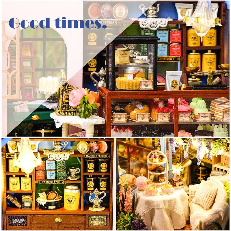 HTB1Uwy6XEGF3KVjSZFvq6z nXXayRose Garden Tea House DIY Dollhouse