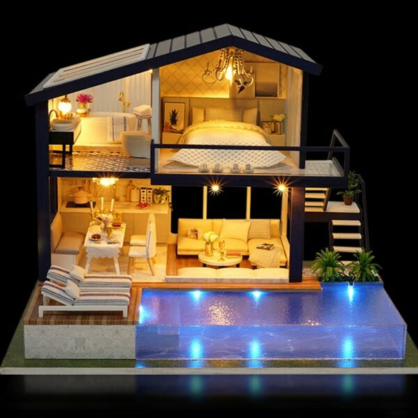 HTB1XDdvinmWBKNjSZFBq6xxUFXagTime Apartment DIY Dollhouse Kit