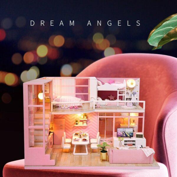 HTB1 6bLX16sK1RjSsrbq6xbDXXaKDream Angels DIY Dollhouse