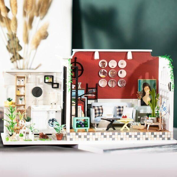 HTB1 lVbXWSs3KVjSZPiq6AsiVXa5London Holiday DIY Miniature Dollhouse