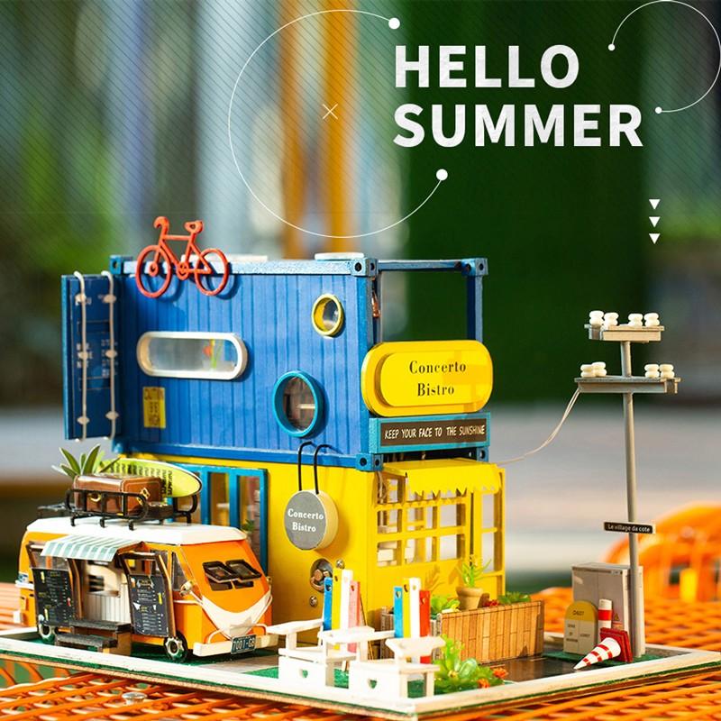 HTB1aJ 1dfWG3KVjSZFgq6zTspXazHello Summer DIY Miniature Dollhouse Kit