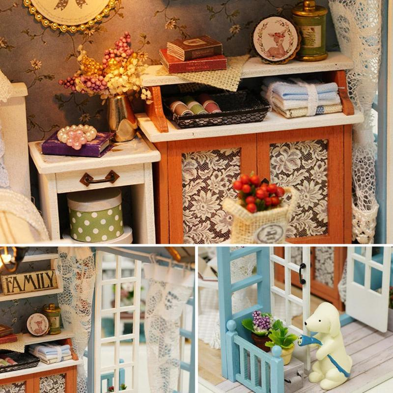 HTB1k41wJXmWBuNjSspdq6zugXXavMori Blue Time DIY Dollhouse