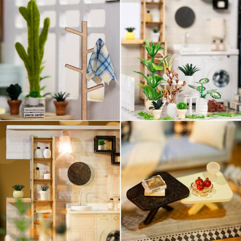 HTB1oNg7XSWD3KVjSZSgq6ACxVXaeLondon Holiday DIY Miniature Dollhouse