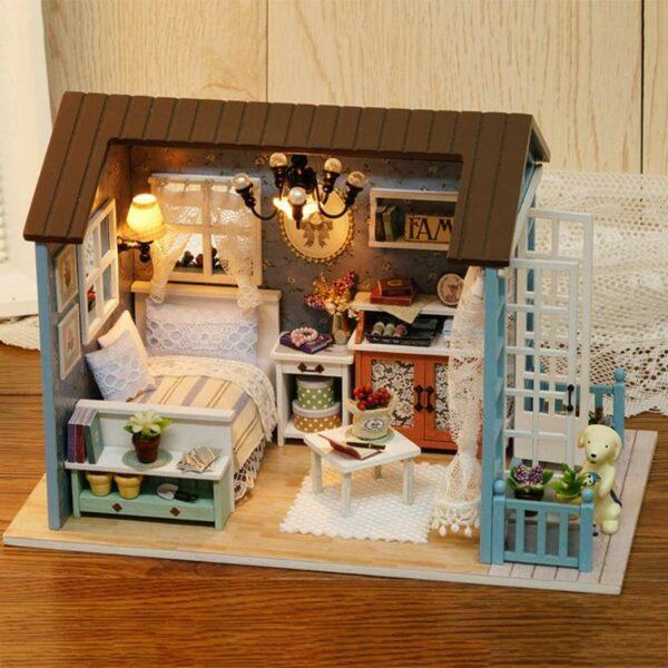 HTB1orY4HL5TBuNjSspmq6yDRVXaZMori Blue Time DIY Dollhouse