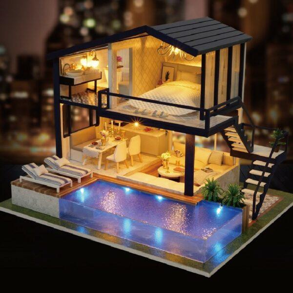 HTB1tv0cxhWYBuNjy1zkq6xGGpXa2Time Apartment DIY Dollhouse Kit