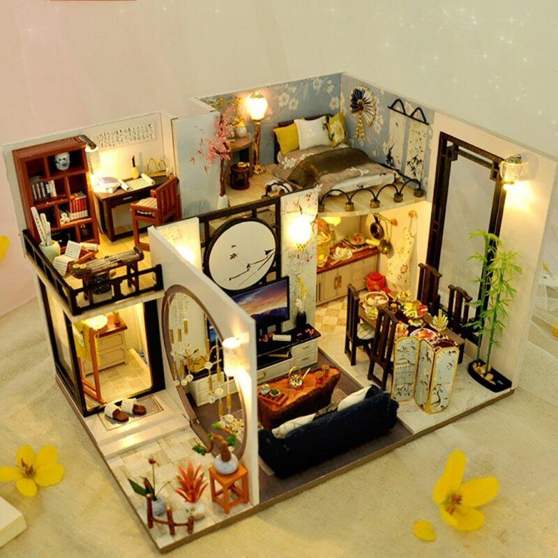 Ha8bd30c25ee9416da825b49587f3a2d4kBamboo Shadow DIY Miniature House Kit