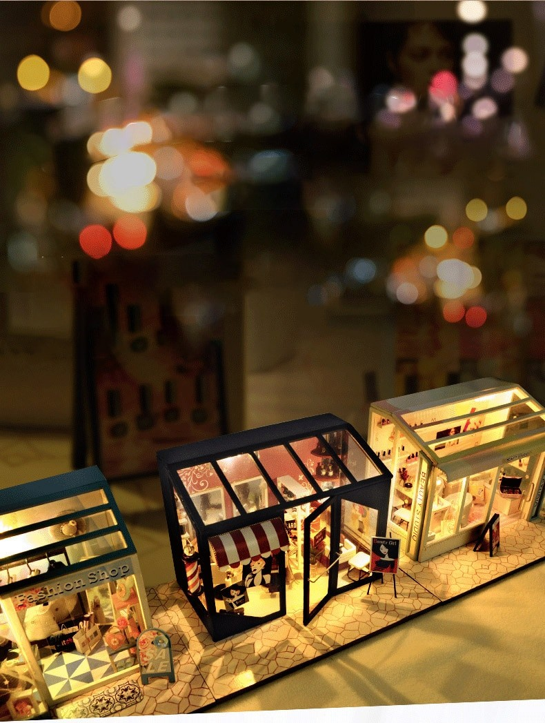 Hair Saloon DIY Miniature Store Kit Hair Salon11407172707f4799be8e4b054e8abc98D