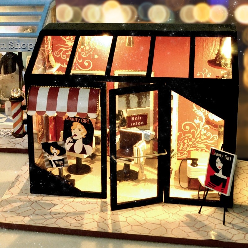 Hair Saloon DIY Miniature Store Kit Hair Salon59139390ce9c4f4aa2442178039d85e7c