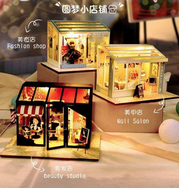 Hair Saloon DIY Miniature Store Kit Hair Salon8946a974b1e54f33937bf64eae71c3873