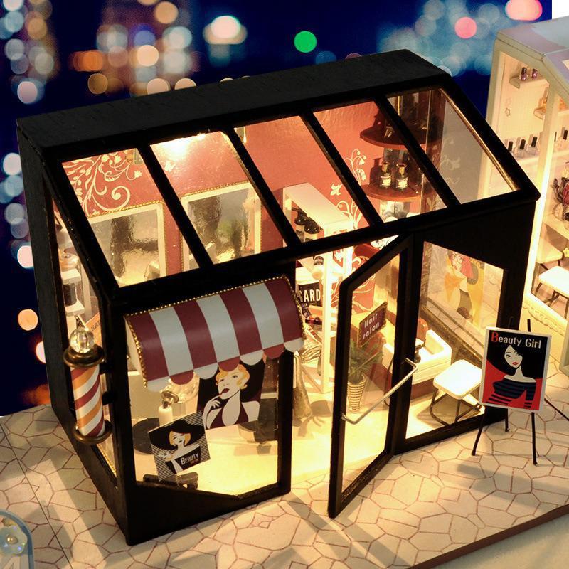 Hair Saloon DIY Miniature Store Kit Hair Salonee546ff8f9154344b9183699ca425bc9D
