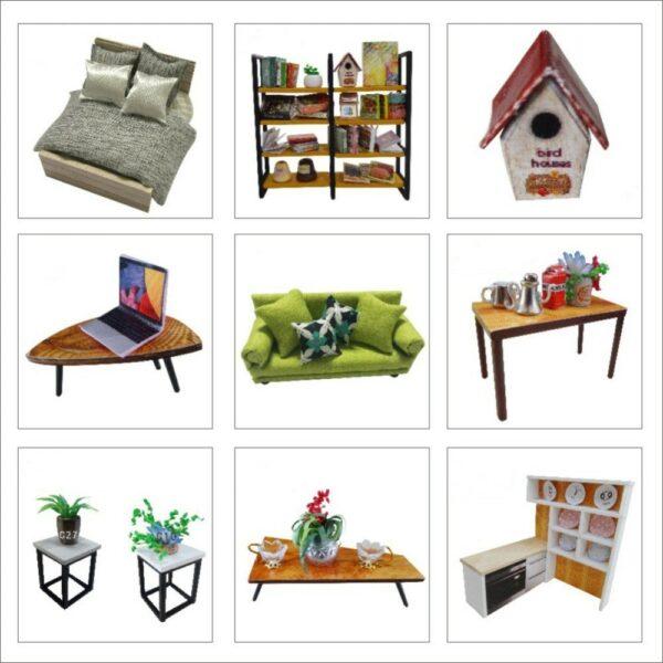 Happy Together DIY Miniature Dollhouse Kiteb85382b1c3e4b85949bf35837b05cb0y