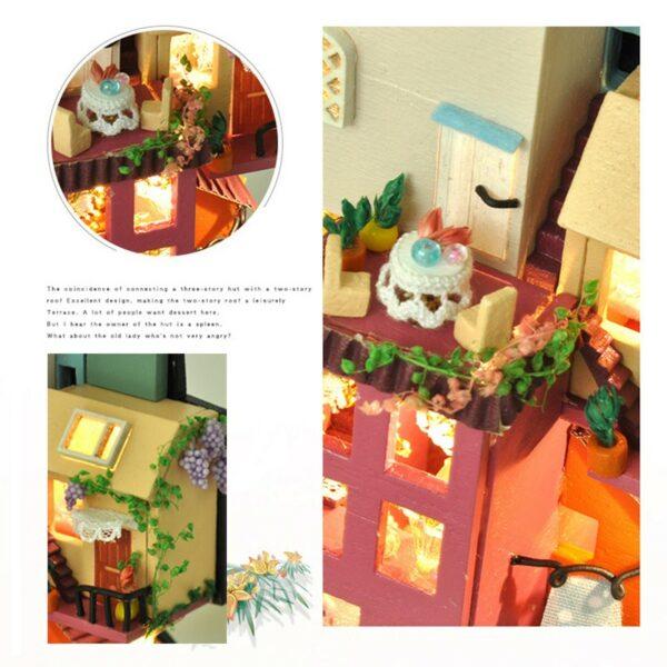 Hb09bf155bb0544f08413a2908e3832e4VFairy Tale Town DIY Dollhouse Kit
