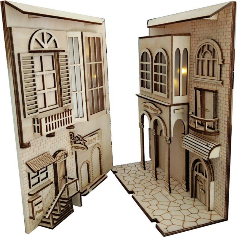 Hb77d8de69dec4e21aa0800279bceaf29mEuropean Town Miniature Book Nook