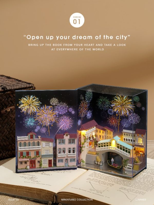 Hc3043f96cd224f059b4ee06b152b0afdW 600x797Journal of Venice Mini Book DIY Dollhouse