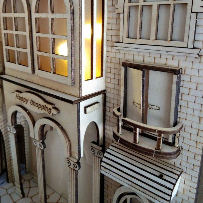 Hc5f540905687470c968e84315bb7efd7HEuropean Town Miniature Book Nook