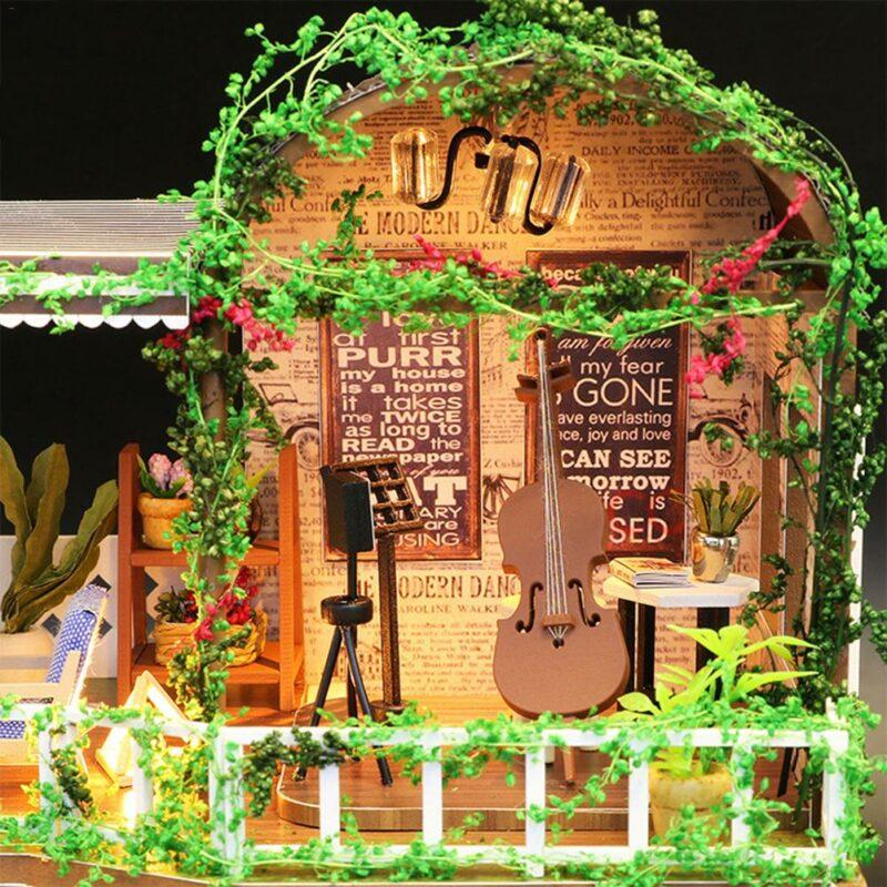 Hcc4599ceae624ad3bb891163ee143618jRainbow Cafe DIY Dollhouse White
