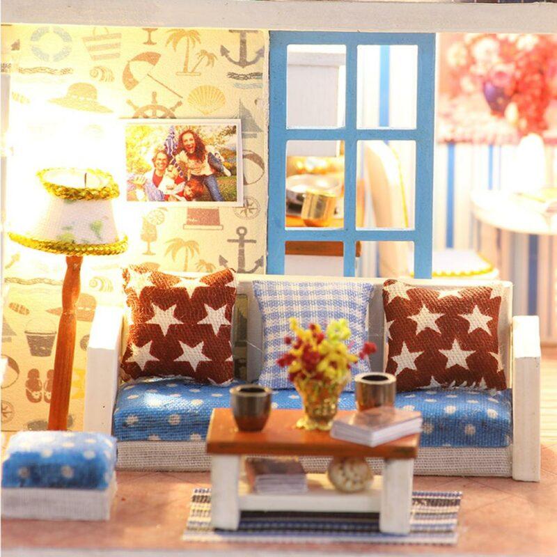 Hce0812ad2a754bbbbf1235c19c8cc827zSeaview Mini DIY Miniature House