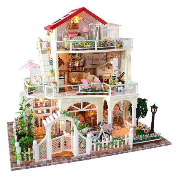 Hde380d603dcb448f891a8094c81a9601V 600x600Princess Villa DIY Miniature Dollhouse Kit