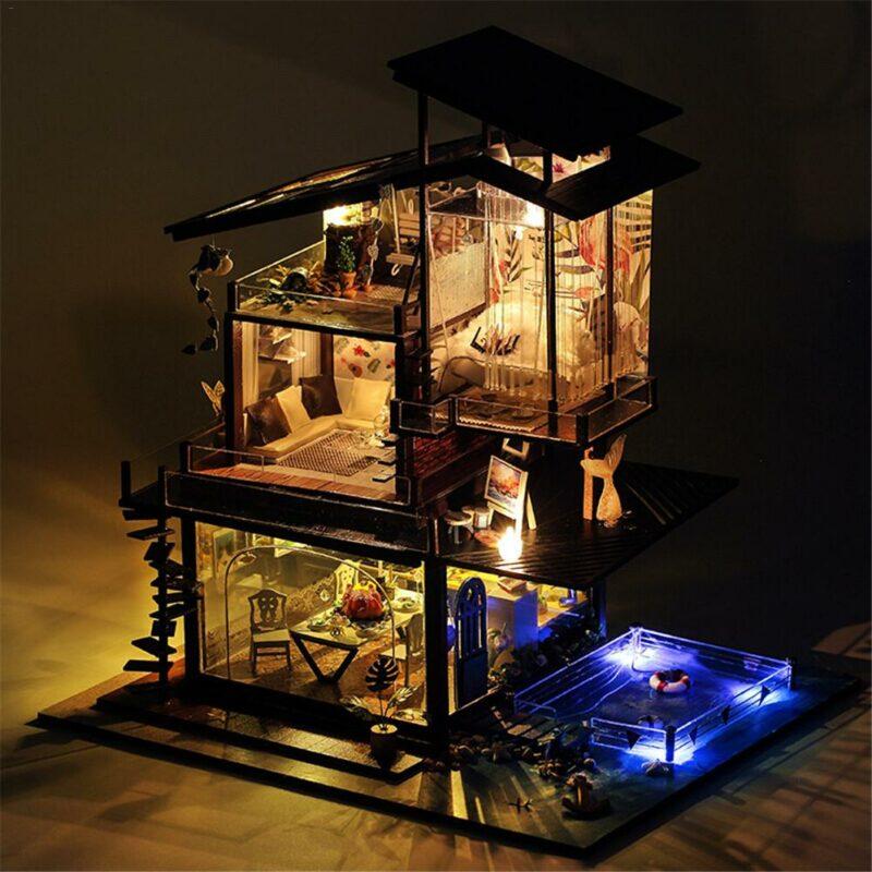 He254f537107a43899f6feffc6279d031QCottage Valencia Coast Villa DIY Dollhouse