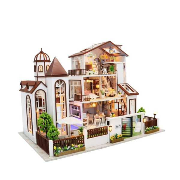 Hf55296a36dcb44bc91de65b5e26ca026O 600x600Love You All The Way DIY Miniature Dollhouse Kit