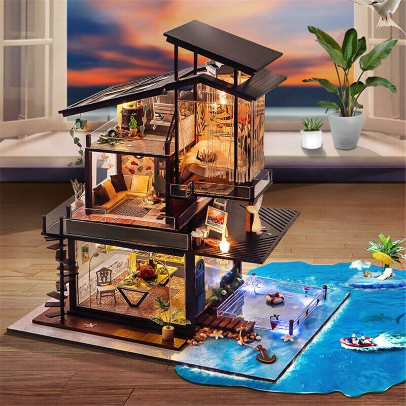 Hf64fa13eddf745c0975bb2395372683boCottage Valencia Coast Villa DIY Dollhouse