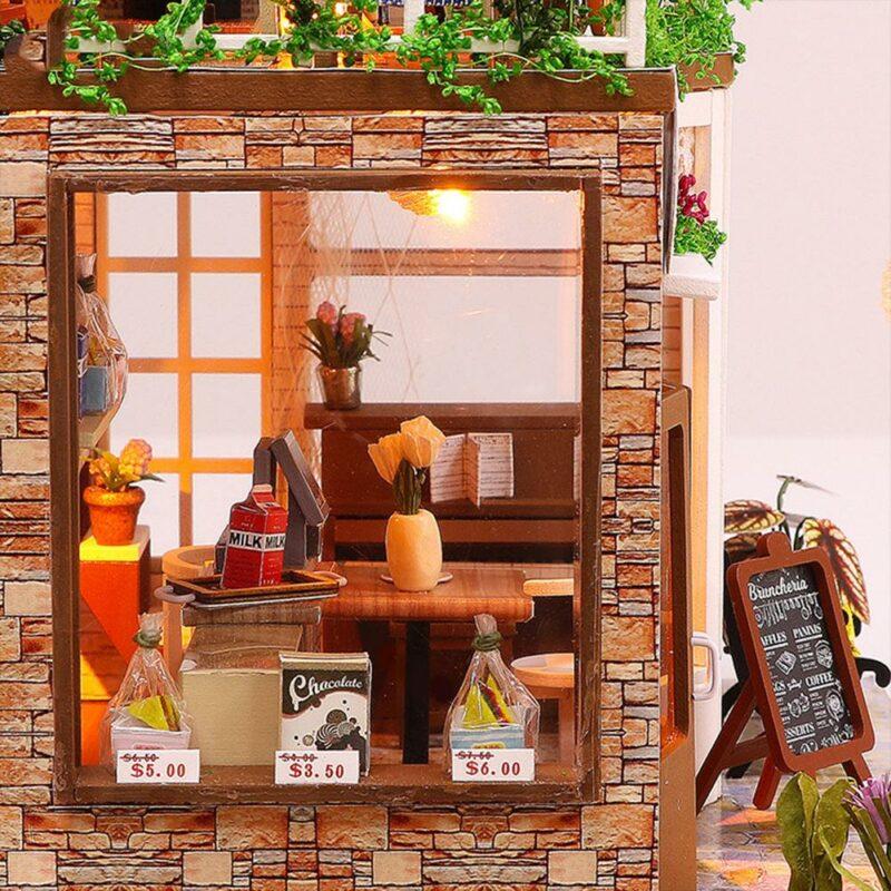 Hfa5f13452a0140298d6c661a602b3a4bkRainbow Cafe DIY Dollhouse White