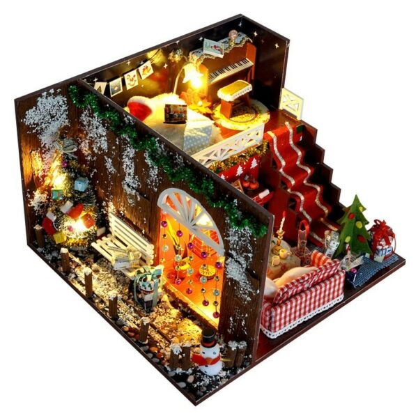 Merry Christmas DIY Miniature Room Kit With dust coverTB1qy3.X6zuK1Rjy0Fpq6yEpFXaE