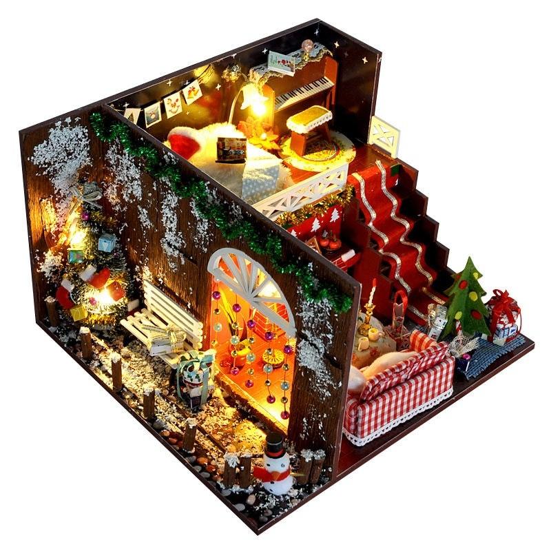 Merry Christmas DIY Miniature Room Kit With dust coverTB1qy3.X6zuK1Rjy0Fpq6yEpFXaE