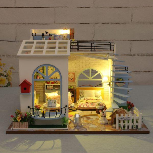 Moonlight Rooftop DIY DollhouseTB1C6ayaoLrK1Rjy1zbq6AenFXaW 600x600 1