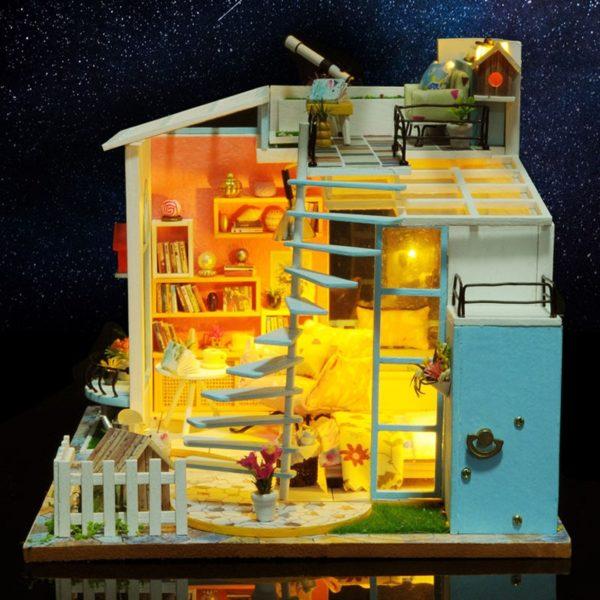 Moonlight Rooftop DIY DollhouseTB1dpysairxK1RkMoonlight Rooftop DIY DollhouseFCcq6AQCVXaU 600x600 1