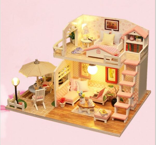 Pink Loft DIY Miniature Loft KitTB1bekzd8jTBKNjSZFNq6ysFXXag