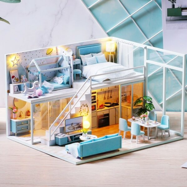Poetic Life DIY Miniature Dollhouse Kit15460878c5b24cacbe761be8c4805161o