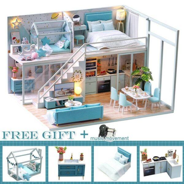 Poetic Life DIY Miniature Dollhouse Kit376991b035684ae1a37ea43a181b12793