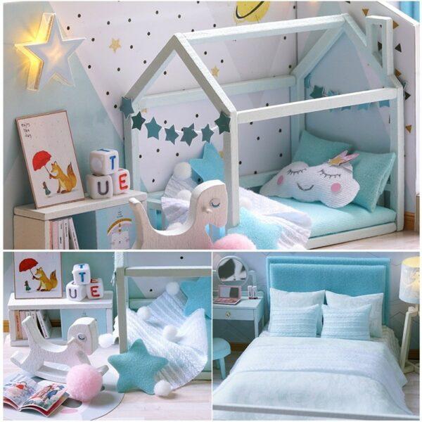 Poetic Life DIY Miniature Dollhouse Kit641465d2d1f243cb82371b0388bb15c8W