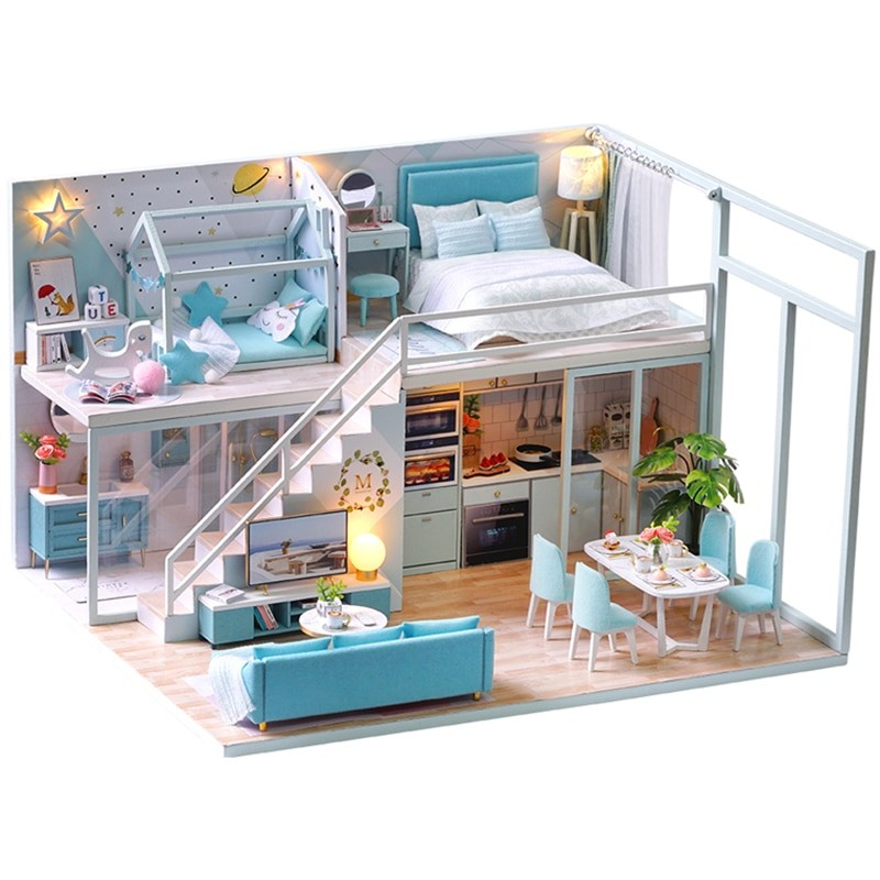 Poetic Life DIY Miniature Dollhouse Kitee346028b9a24480878ce02ebb87c044B